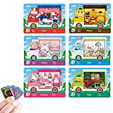 6 pcs Sanrio Animal Crossing Amiibo Card Small NFC Game Card Compatible with Switch/Switch Lite/New 3DS