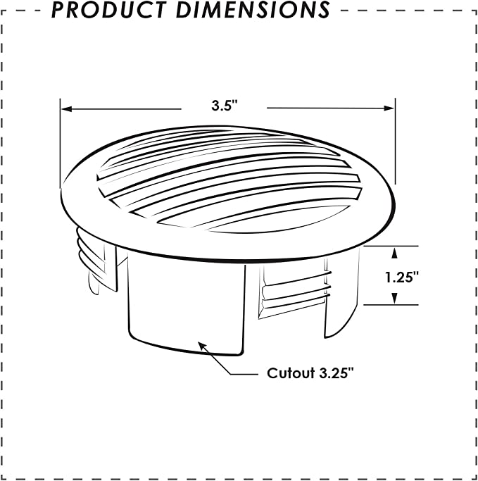81934-W-DB White 3 High Dome Vent ITC