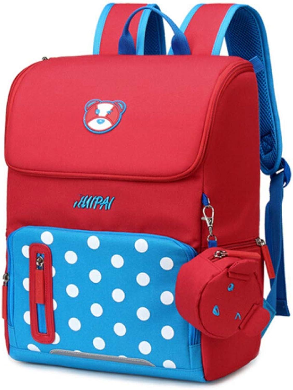 LAIDAYE Kid Girl Boy Bookbag Schulrucksack Wasserabweisende Wasserabweisende Wasserabweisende Elementary Dot Bookbag Mit Brustgurt B07JYMWDL4 | Marke  61323b