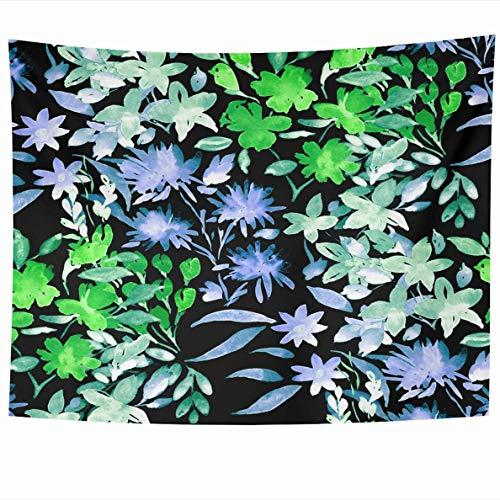 N\A Tapiz Colgante de Pared Acuarela Realista Flor de Cerezo Japonés Rosa Rojo Naturaleza Azul Artístico Hermosa Floración Ramo Tapices Decoración del hogar Manta Dormitorio Sala de Estar Dorm