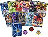 Pokemon Ultra Rare Lot - Random 5 Cards All Ultra Rare! 2 GX 3 V and/or EX Ultra Rare Mix! 1 Coin! Includes Golden Groundhog Box!