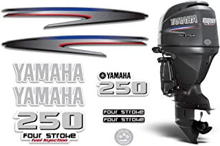 AMR Racing Outboard Engine Graphics Kit Sticker Decal Compatible with Yamaha 250-4 Stroke