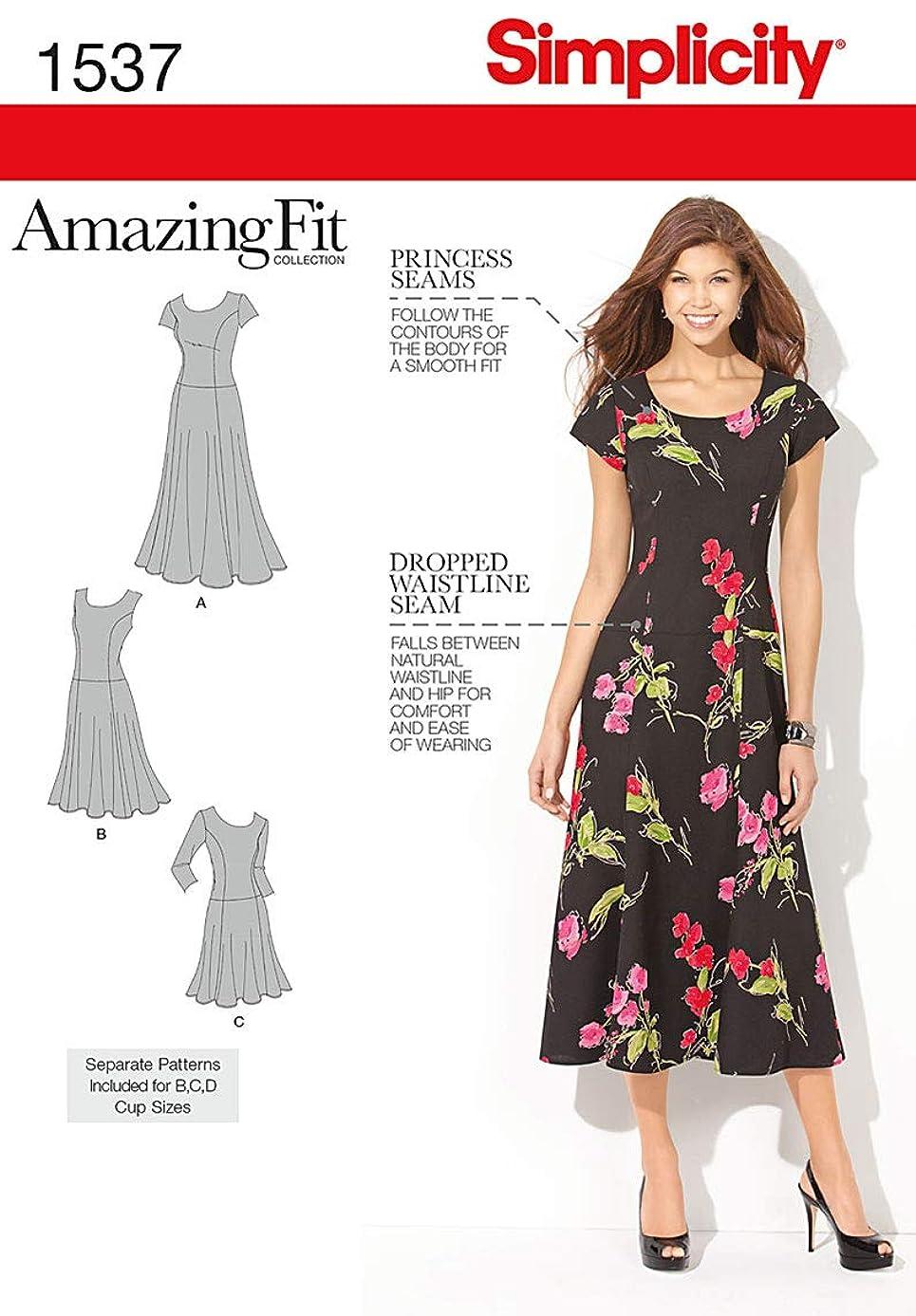 Simplicity Amazing Fit Pattern 1537 Women's Dress in Three Lengths Sizes 20W-28W