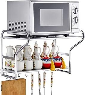 MMD Horno de microondas de estantes metálicos de 2 Capas de Cocina del Organizador del almacenaje del Estante Horno de Carro Suministros Condimento de Almacenamiento en Rack
