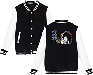 Jimi Hendrix Mens & Womens Cool Hoodie Baseball Uniform Jacket Sport Coat Black XXL