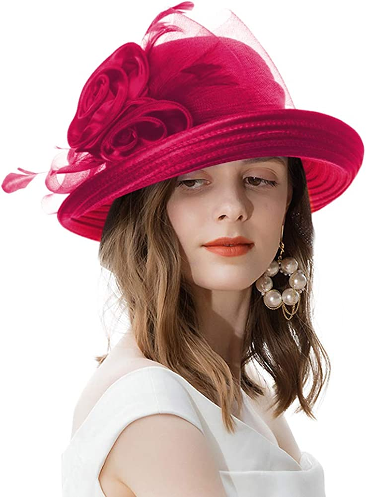 Women's Vintage Fascinator 35% OFF Roll Brim for Sales for sale Cloche Church Kent Hat