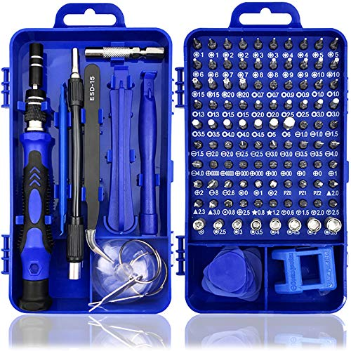 MOOING Juego de Destornilladores de Precisión, 119 en 1 Kit de Herramientas Precision de Reparación de Bricolaje Profesional para iPhones/Smartphone/Cámara/Reloj/Gafas y otros aparatos electrónicos