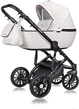 Stroller 3 en 1 juego completo con asiento de coche Isofix baby tub baby carrier Buggy Boston Black de ChillyKids Arctic Snow 95 Silla de auto 4 en 1 + ISOFIX