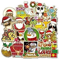 クリスマスステッカー 52枚パック バラエティビニールステッカー オートバイ 自転車 荷物 デカール グラフィティパッチ スケートボードステッカー 子供向け