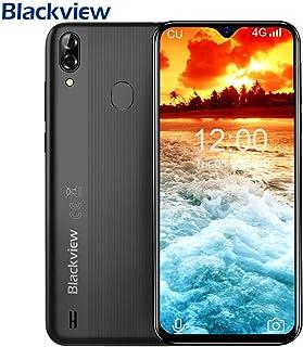 Blackview A60 PRO SIMフリースマートフォン Android 9.0 6.1インチ19.2:9 HD+大画面 MT6761 2.0GHz クアッドコア 3GB RAM + 16GB ROM グローバルLTEバンド対応 8MP/5MPカメラ デュアルSIM(Nano) 顔認証 指紋認識 4080mAh大容量 バッテリー スマホ au不可 [一年保証](黒)