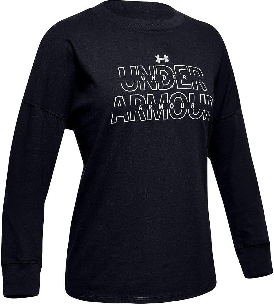 Under Armour Girls' Wordmark 2021new shipping free shipping Long-Sleeve Branded Bombing free shipping T-Shirt