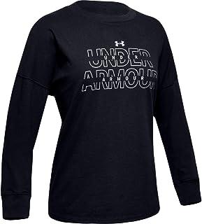 تي شيرت بأكمام طويلة للفتيات يحمل العلامة التجارية Under Armour