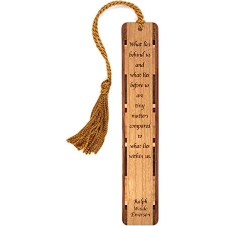 2 Pcs Engraved Lotus Pattern Wooden Bookmark Creative Bookmarks Handmade Bookmark with Tassel for Readers