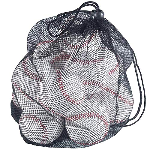 Tebery 12 Pack Standard Size T-Ball Training Baseballs Reduced Impact Safety Baseballs Unmarked & Soft Practice Baseballs