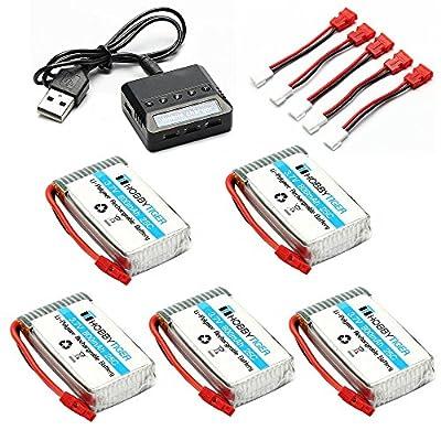 5PCS 3.7v 500mah Upgrade Battery for Hubsan X4 H107C H107L H107D H107P