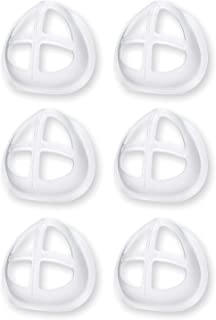Alameda Silicone & Rubber Disposable 3D Bracket FrameComfortable Mask (Clear, Without Valve, Pack of 6)