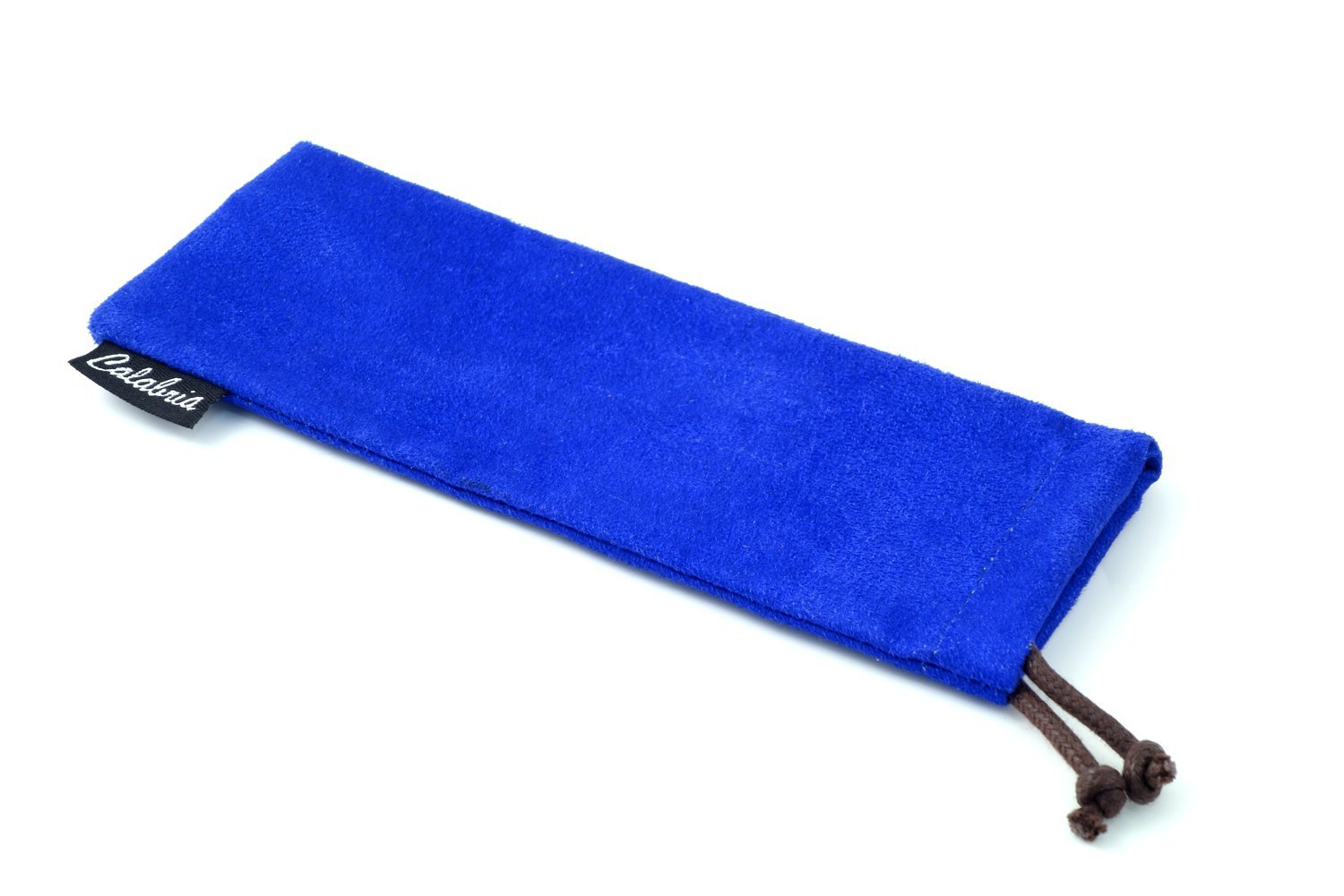 Chamois Drawsting Eyeglass Case/Cleaning Pouch in Blue C-347 6.25