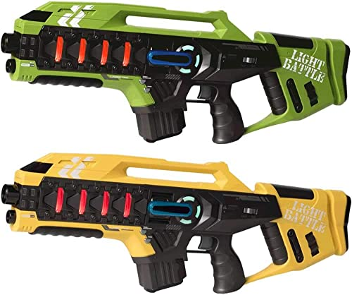 el mas de moda Light Battle 2X Anti-Cheat Mega-Blaster - Pistolas Laser Laser Laser Tag - Color  verde y amarillo - LBAPG10218  ahorra 50% -75% de descuento