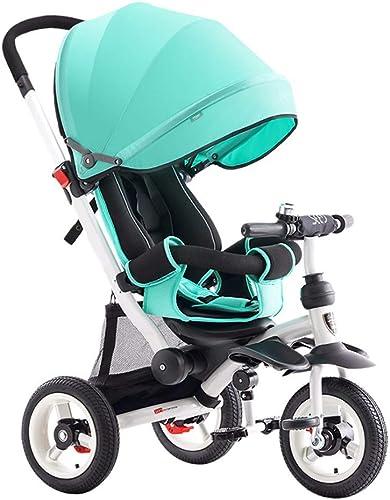descuentos y mas JYY Triciclo para Niños 4-en-1 Trike para bebés con con con manija de Empuje Embrague de la Rueda Asiento reclinable para Niños de 1 a 5 años de Edad,azul-1  online al mejor precio