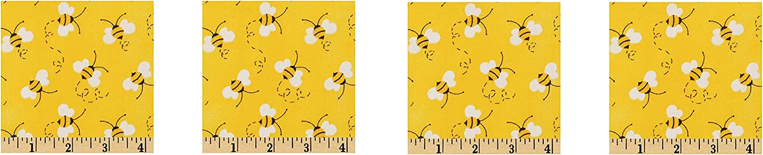 Max 84% OFF Quilt Fabric Traditions Charms Sales results No. 1 Bees Yellow