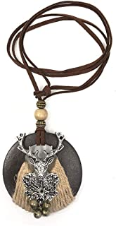 Statement Necklace for Women Handmade Girl Boho Pendant Cute