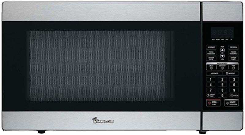 MAGIC CHEF MCD1811ST 1 8 Cubic Ft 1 100 Watt Stainless Microwave With Digital Touch Consumer Electronics