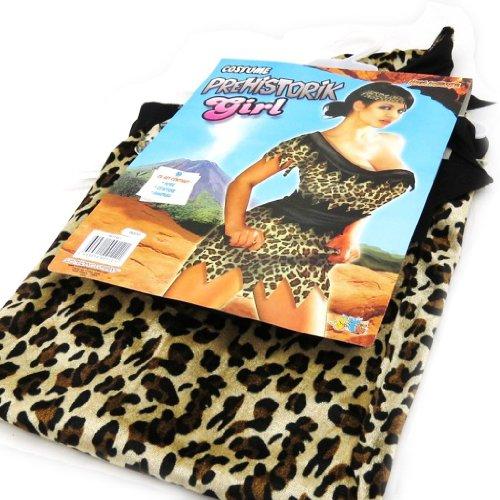 Les Trésors De Lily [I9577] - Déguisement de 'Femme Préhistoire' marron léopard