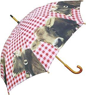 Mars & More Schirm Regenschirm Alpen Kuh 105 cm Regenschirme mit Motiv die Sie trocken und stilvoll zum Ziel bringen