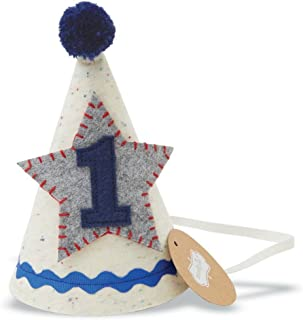 Baby Boys First Birthday Felt Party Hat, Blue, One Size