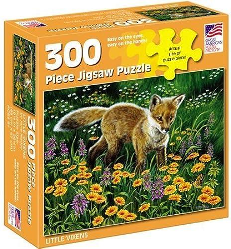 excelentes precios Great Great Great American Puzzle Factory Little Vixens 300 Piece Puzzle by Great American Puzzle Factory  vendiendo bien en todo el mundo