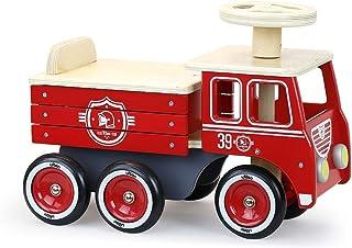 Vilac Porteur Camion de Pompiers-A partir de 18 mois-1126R, 1126R, Rouge
