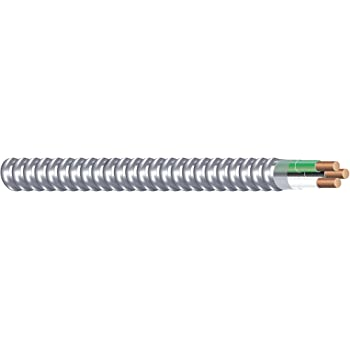 Southwire 68579201 Armorlite Type Mc Aluminum Armored Cable, 14/2, 600 Volts, 250 Ft. Coil