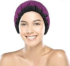 Cordless Deep Conditioning Heat Cap - Microwavable Heat Cap for Deep Conditioning Hair Therapy, 100% Natural Cotton, Flaxseed Seed Interior for Maximum Heat Retention (Purple)
