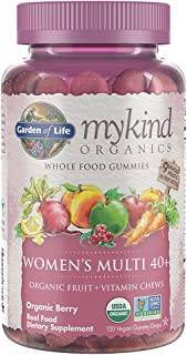 Garden of Life - mykind Organics Women 40+ Gummy Vitamins - Berry - Certified Organic, Non-GMO, Vegan, Kosher Complete Mul...