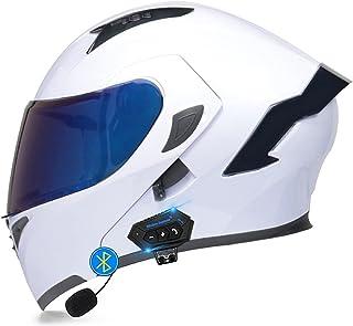 ABDOMINAL WHEEL Bluetooth Integrado Casco De Moto Modular,Cascos Modulares De Motocicleta Bluetooth con Doble Anti Niebla ...