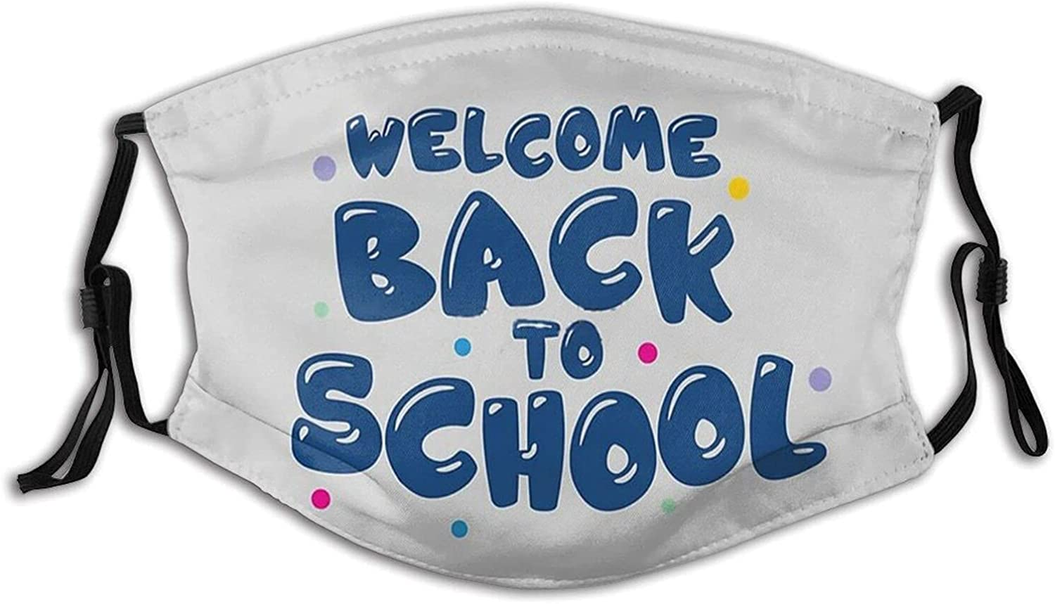 Welcome Back to School Face Mask Balaclavas Breathable Washable,Reusable Funny Mask Scarf 2 Filter for Adult