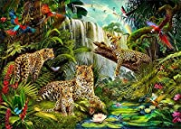 大人の初心者のためのクロスステッチキット 森の動物の世界の刺繡ギフト 家の装飾のための11CTクロスステッチプリントパターンキット40×50cm-フレームなし