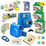 Fujifilm Instax Mini 9 Instant Camera COBALT BLUE w/ Fujifilm Instax Mini 9 Instant Films (60 Pack) + A14 Pc Deluxe Bundle For Fujifilm Instax Mini 9 Camera