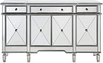 Decor Central ADMFX6-3003SC Cabinet with 3 Drawers, 3 Shelves & 4 Doors 60