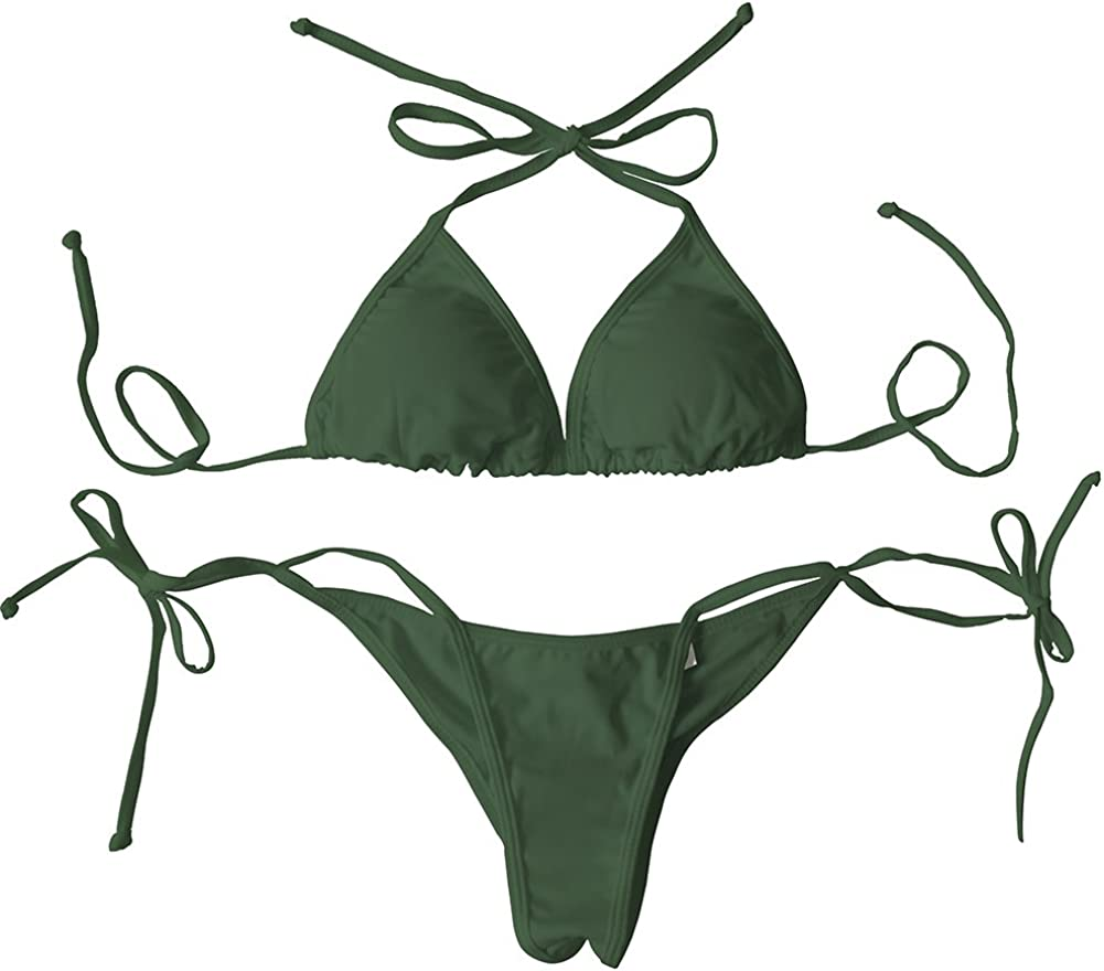 LE BESI Women's Mini Fashion Elegant Inspired Swimsuit Bikini Top Bottom …