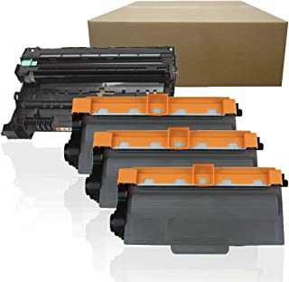 Inktoneram Compatible Toner Cartridges & Drum Replacement for Brother DR-720 TN-720 DR720 TN750 TN720 HL-5440D HL-5450DN HL-5470DW HL-5470DWT HL-6180DW HL-6180DWT MFC-8510DN ([Drum, 3-Toner], 4-Pack)