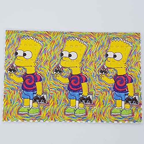 Bart Simpson Pilze Blotter Art Psychedelisch Kunst LSD Kunst Acid Kunst Papier Psychedelisch Geschenk