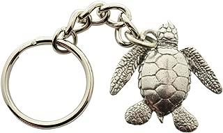 pewter turtle keychain