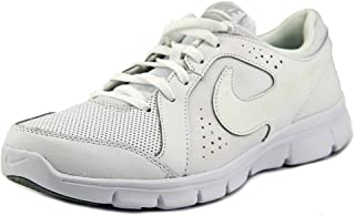 NIKE Youth Flex Experience Leather GS Trainers White White White 631495 100