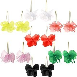 SOURBAN Flower Dangle Earrings Faux Diamond Floral Drop Earrings Plant Long Pendant Hawaii Earrings