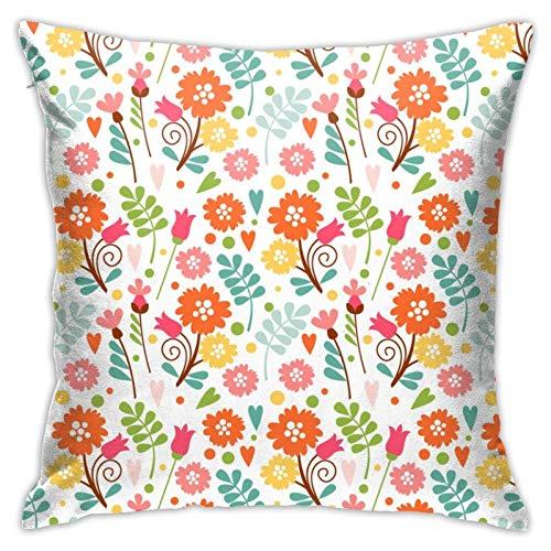Reputation shop Fundas de almohada decorativas de primavera con patrón de flores de 45 x 150 cm, fundas de cojín cuadradas para el hogar, sofá, dormitorio, sala de estar