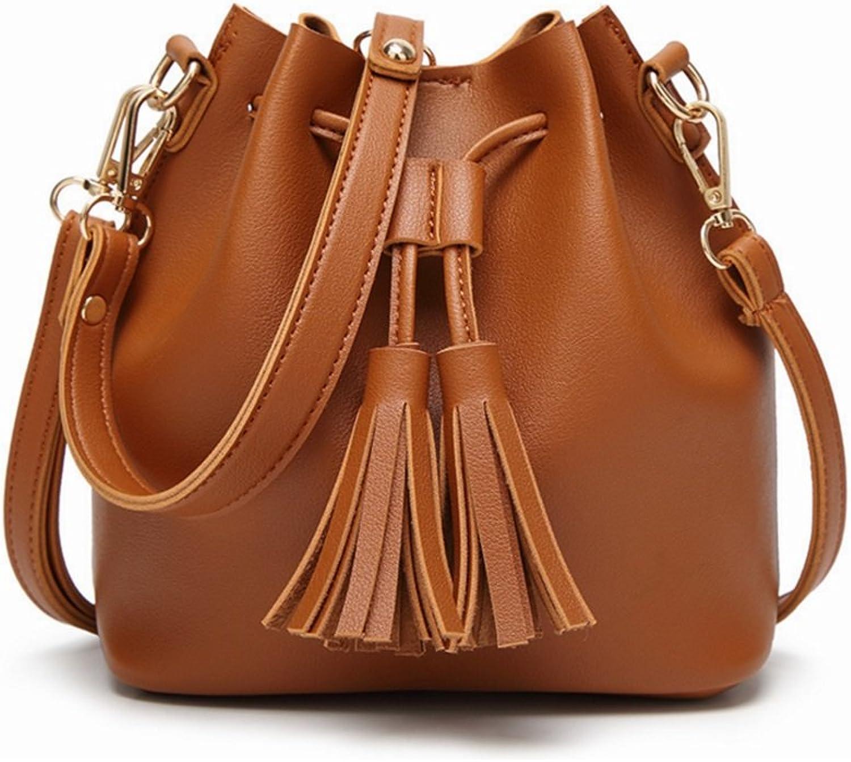 Uzanesx Bucket Bag Kordelzug Kordelzug Kordelzug schrumpft Schultertasche braun Schultertasche (Farbe   braun) B07K8L2V2P  Günstiger 2c3b3d