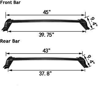 175 lbs Capacity Roof Rack Cross-Bars Luggage Cargo Carrier Fit for Honda CRV EX EX-L LX 2.4L 2007 2008 2009 2010 2011
