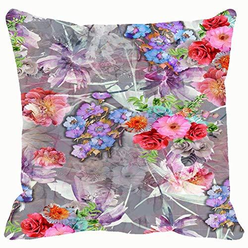 Patrón de pintura en color de imagen sin costuras The Arts Background Funda de cojín cuadrada para hombres y mujeres, hogar, sofá, sillón, dormitorio, sala de estar 45,7 x 45,7 cm
