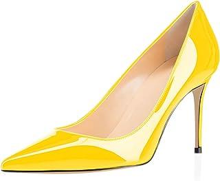 elashe Escarpins Femme - 3.14 inch Chaussures à Talons Hauts - 8CM Bout Pointu fermé - Classique Bureau Soiree
